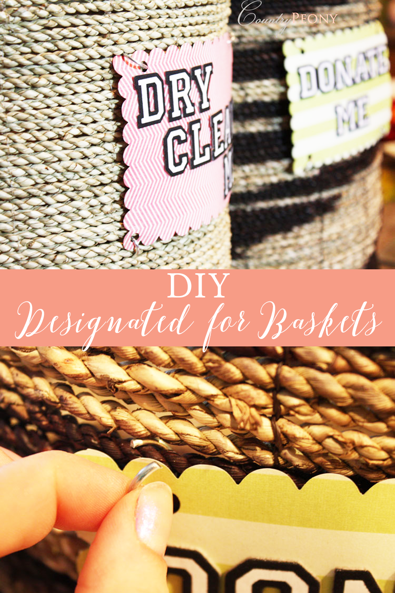 DIY Designated For Organization Baskets