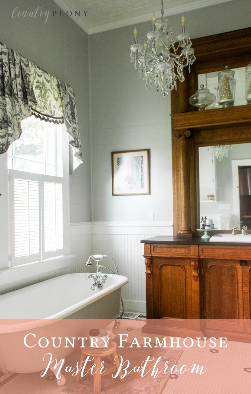 Country Farmhouse Master Bathroom