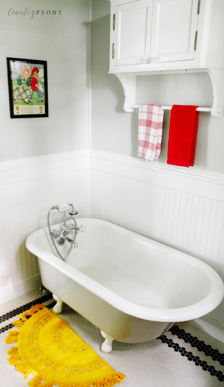 Country Farmhouse Kid's and Guest Bathroom