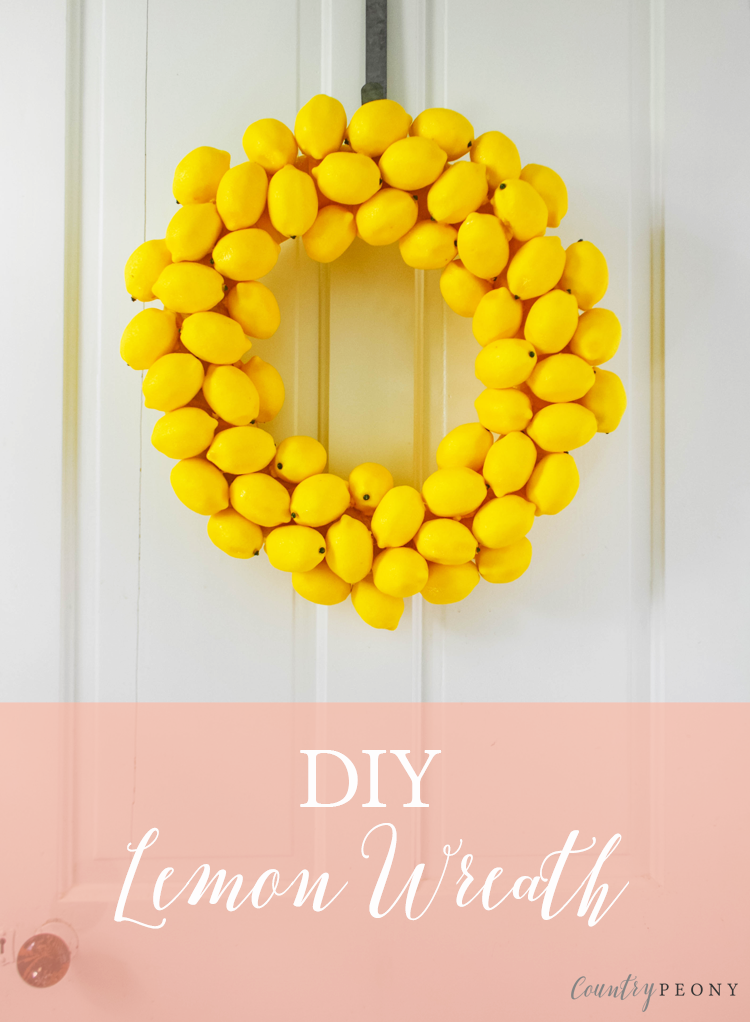 DIY Summer Lemon Wreath