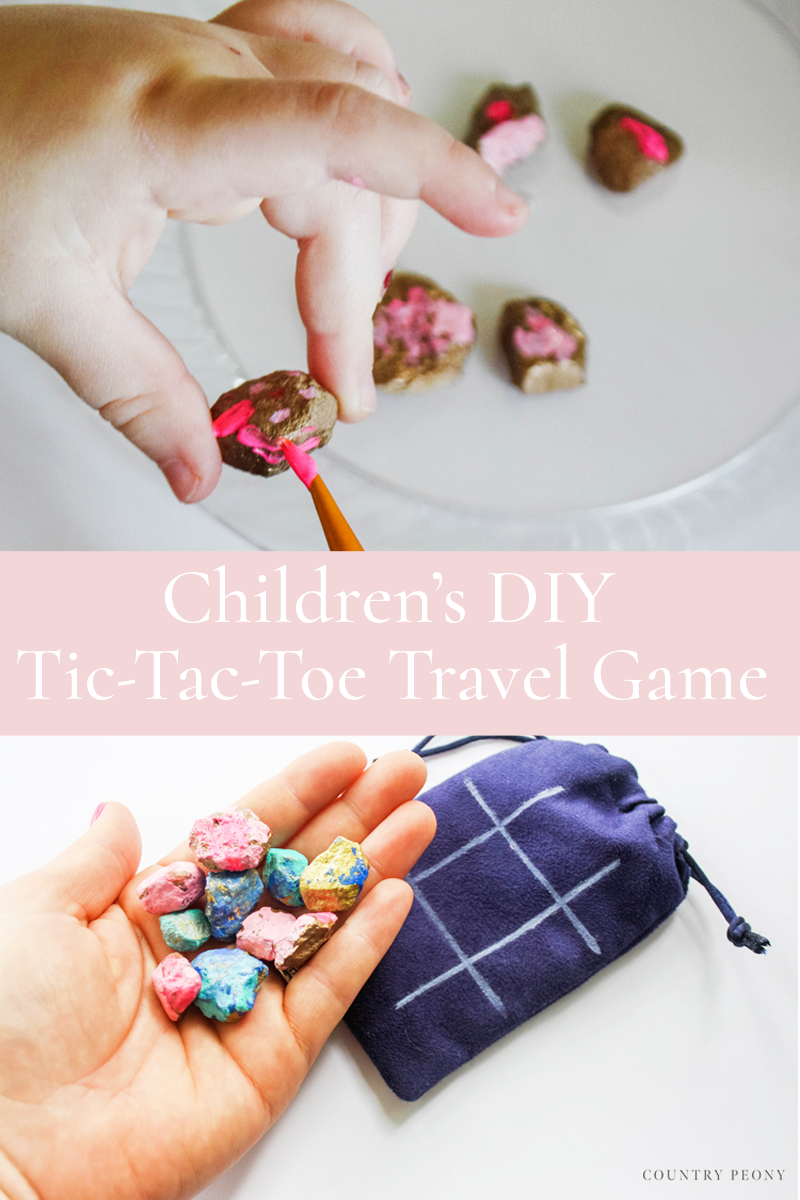 Children's DIY Tic-Tac-Toe Travel Game