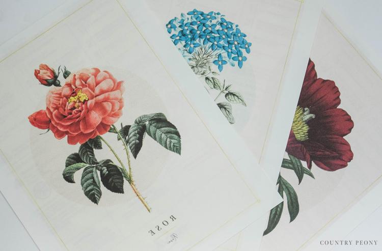 DIY Vintage Botanical Floral Tote Bag
