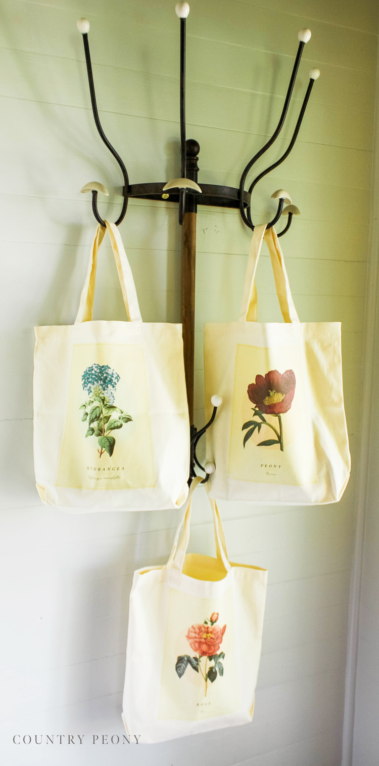 DIY Vintage Botanical Floral Tote Bag