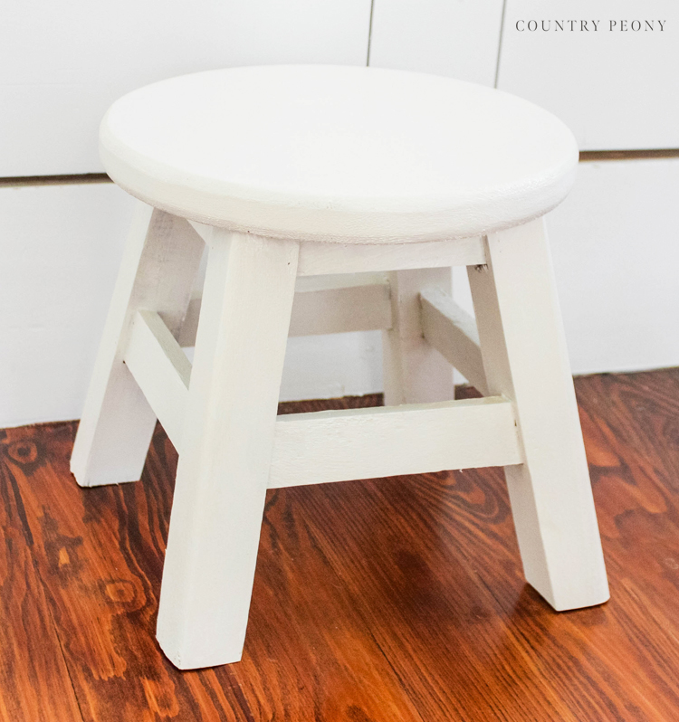 DIY Upcycled Stool with Magnolia Home Chalk Style Paint and Wax
