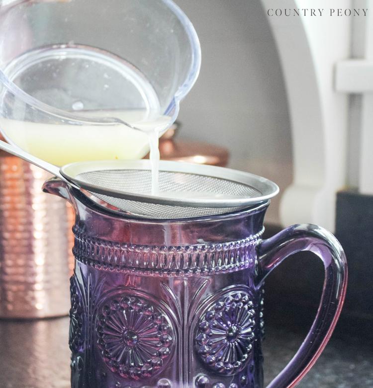 Homemade Honey Lavender Lemonade, Step-By-Step Recipe