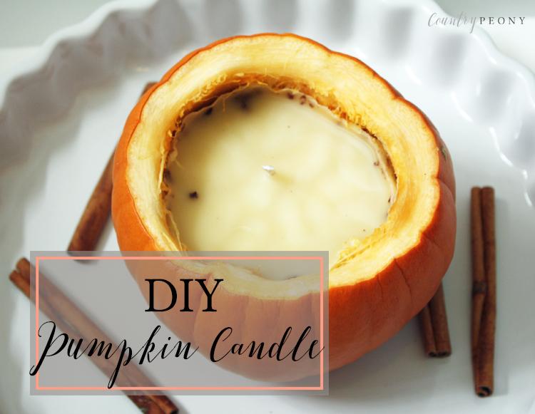 Real Pumpkin Fall Candle DIY - Country Peony Blog