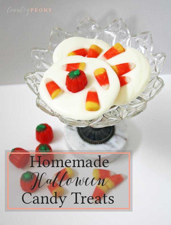 DIY Halloween Pumpkin Candy & White Chocolate Treats - Country Peony Blog