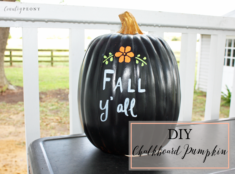 DIY Chalkboard Pumpkin - Country Peony Blog