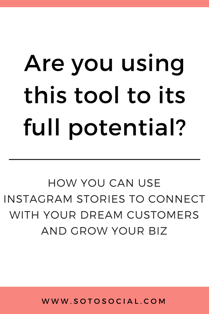 Learn the 5 best ways to use Instagram Stories to grow your business and connect with your dream customers today.   SotoSocial.com