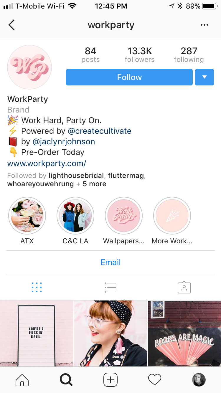 Instagram/ Workparty