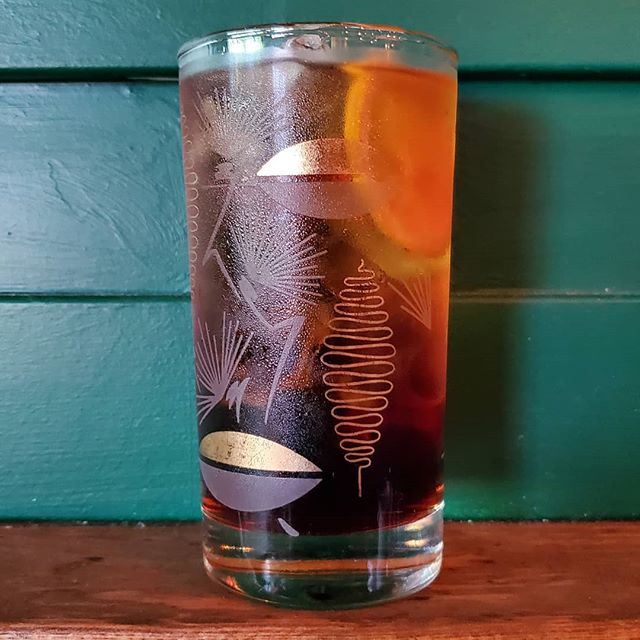 Icy cold drinks for a hot day. A cynar spritz acts like air conditioning! Come get one.