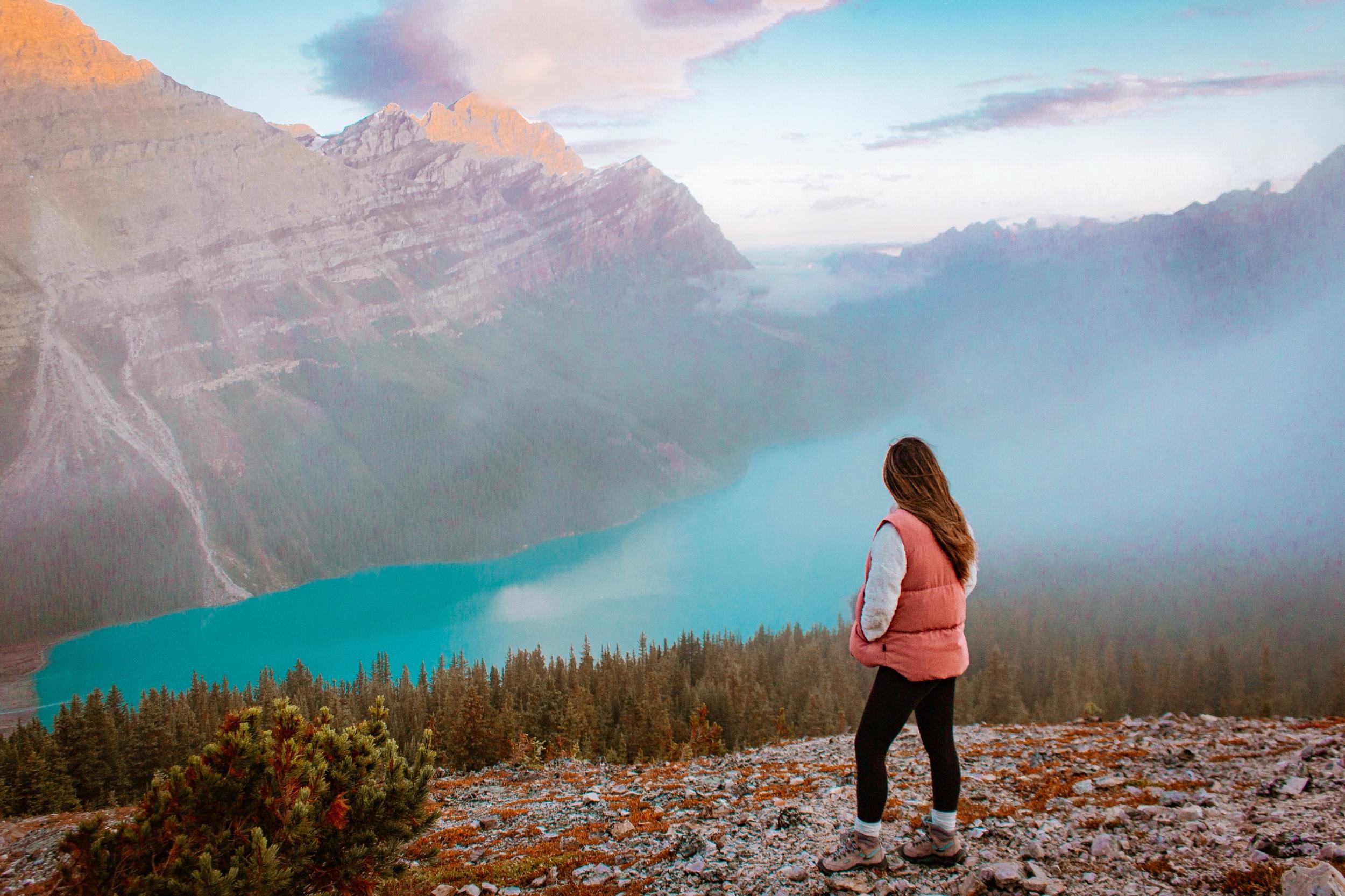 Bow Summit Lookout at Peyto Lake