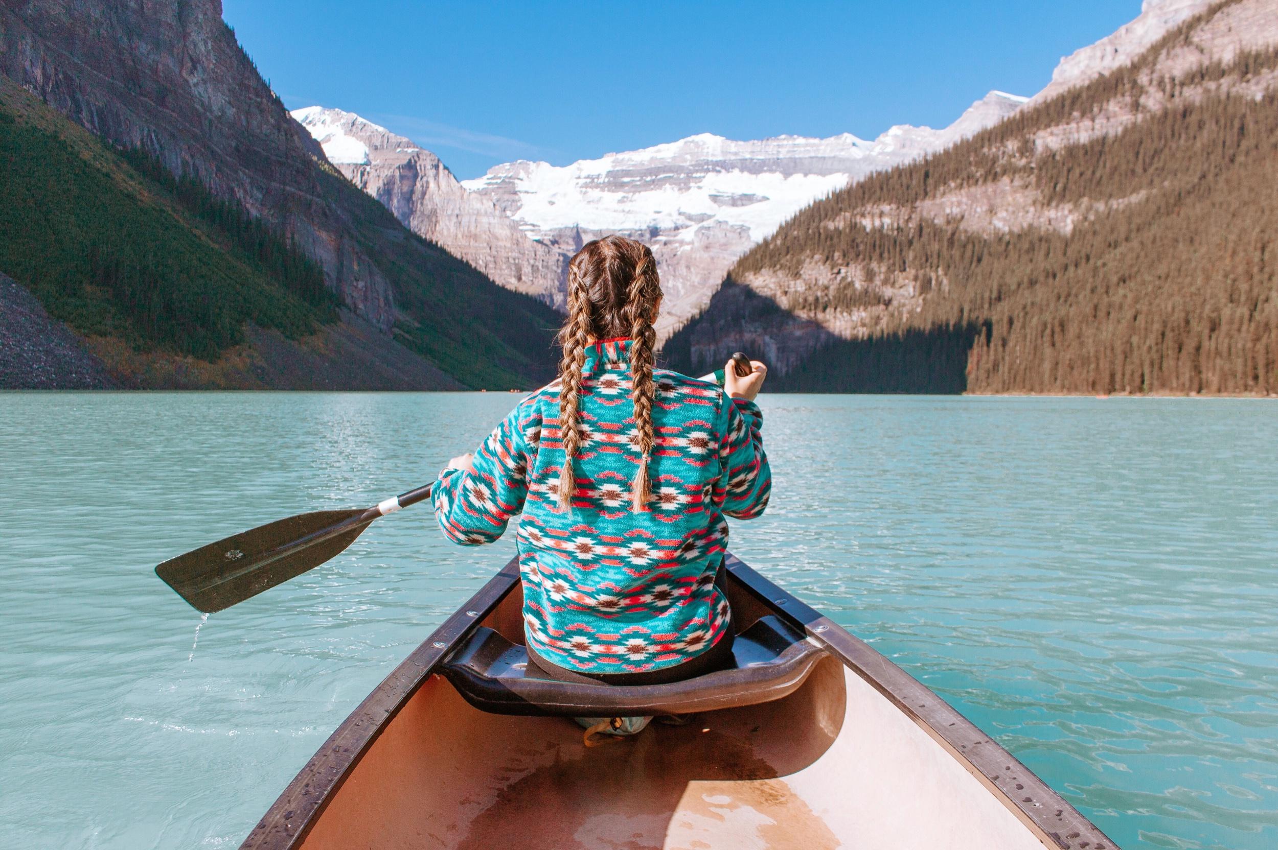 Canoeing at Lake Louise