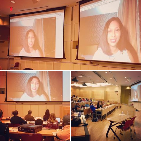 Malavika speaking at a Tapestry workshop for educators at the University of Virginia about the importance of creating inclusive classrooms.