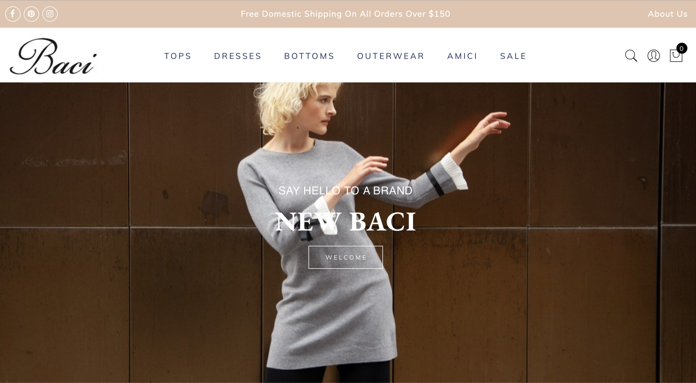 Redesigned and launched all-new retail site for Baci, utilizing the Shopify e-commerce platform.