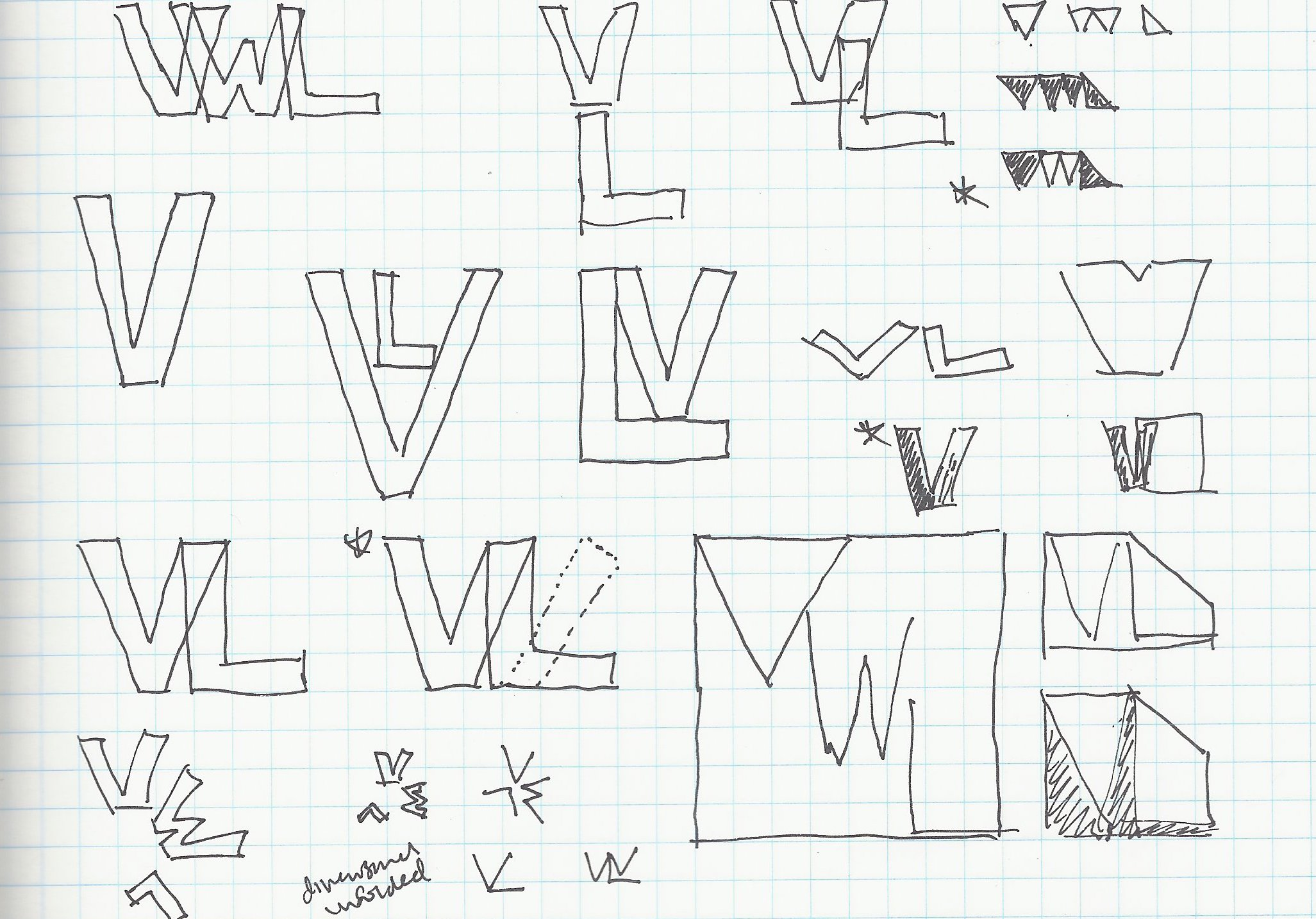 initial sketches for my logo