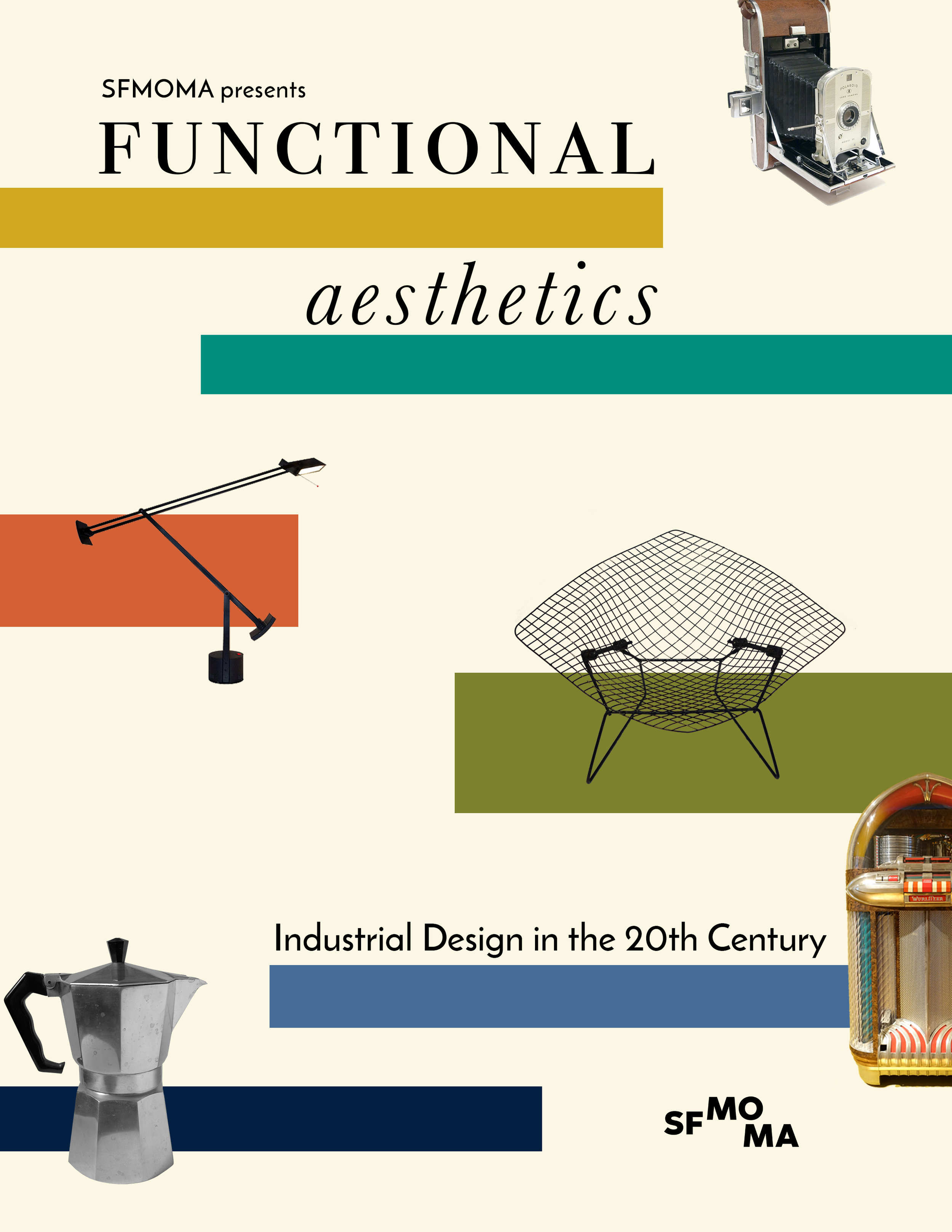 Functional Aesthetics Poster - Poster for a fictional exhibition on 20th century industrial designGraphic Design | Print