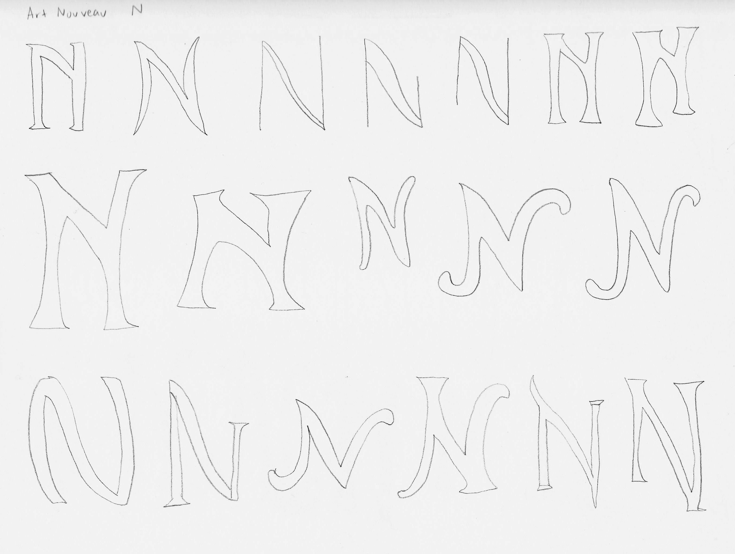 "initial ""N"" sketches"