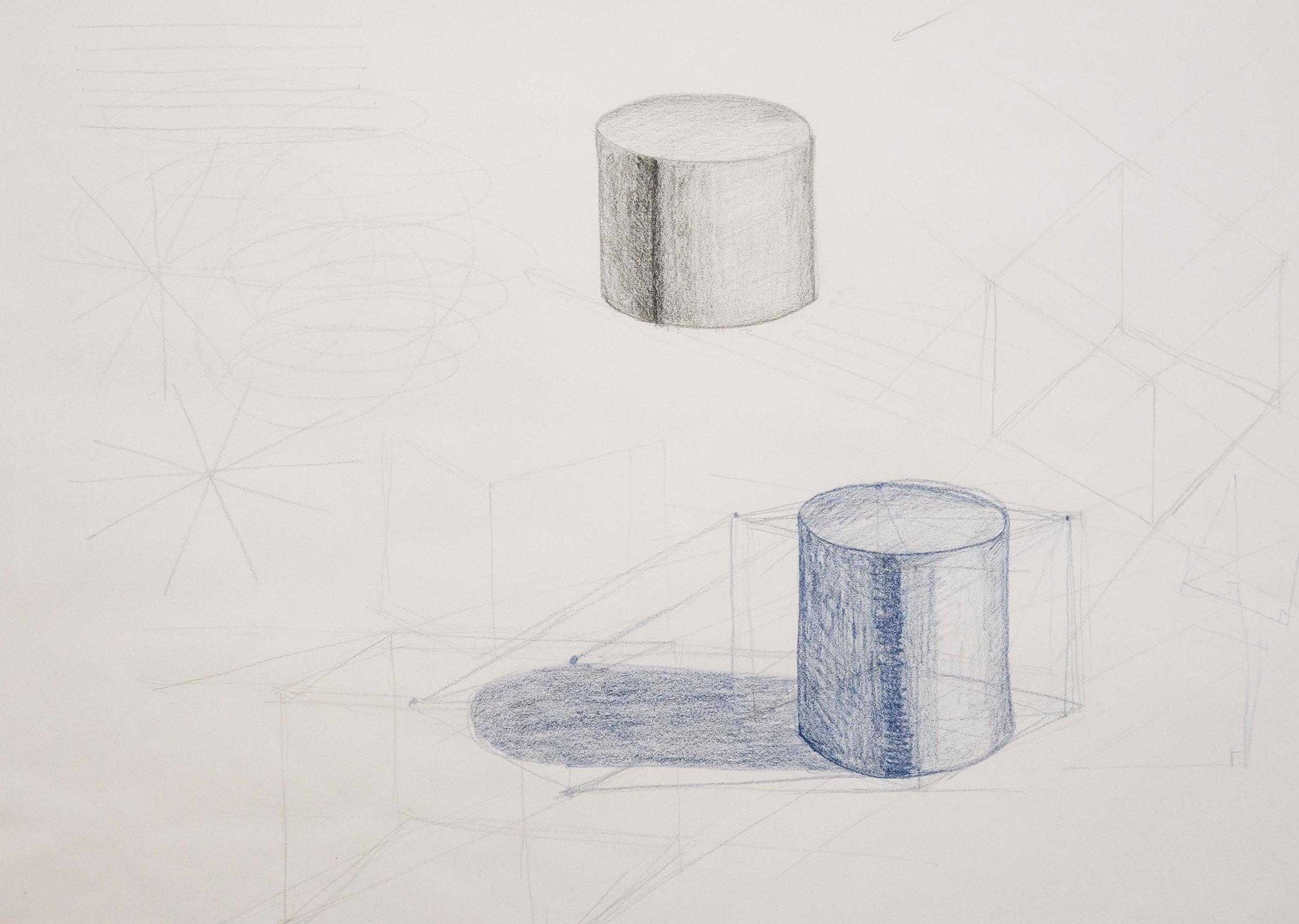 cylinders, shadow