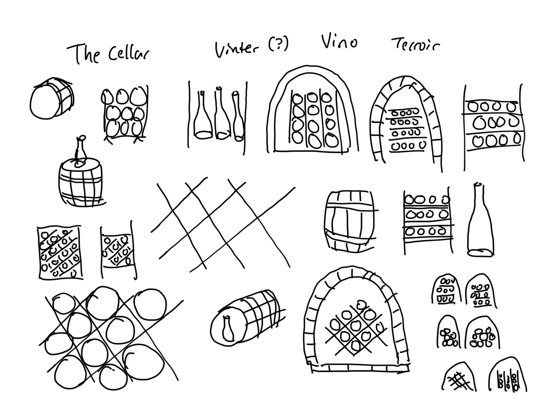 The Cellar Logo Sketches.jpg