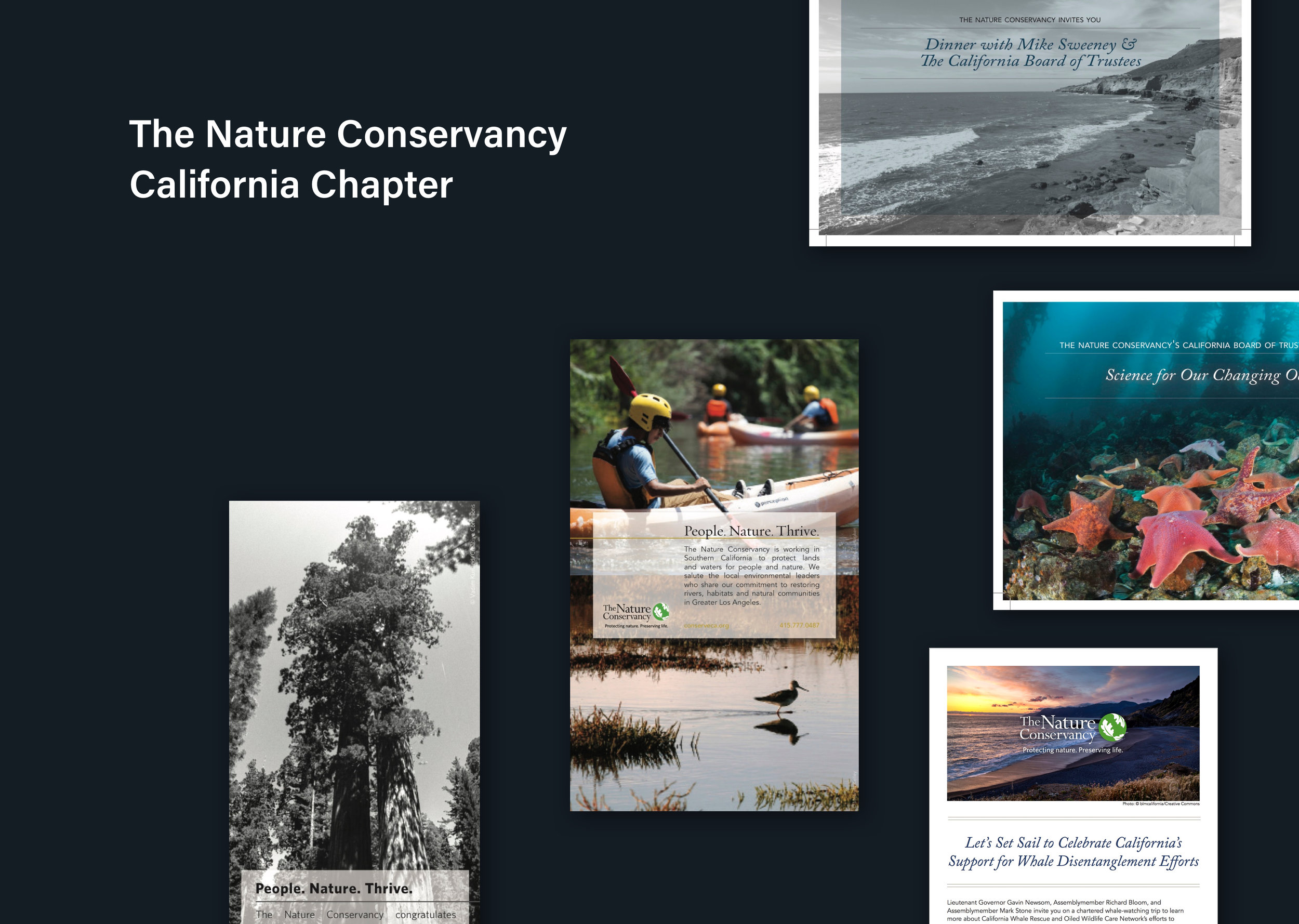 The Nature Conservancy in California Communications - Evites, Printed Invitations, AdsCommunication Design | Production Design | Graphic Design |Digital | Print
