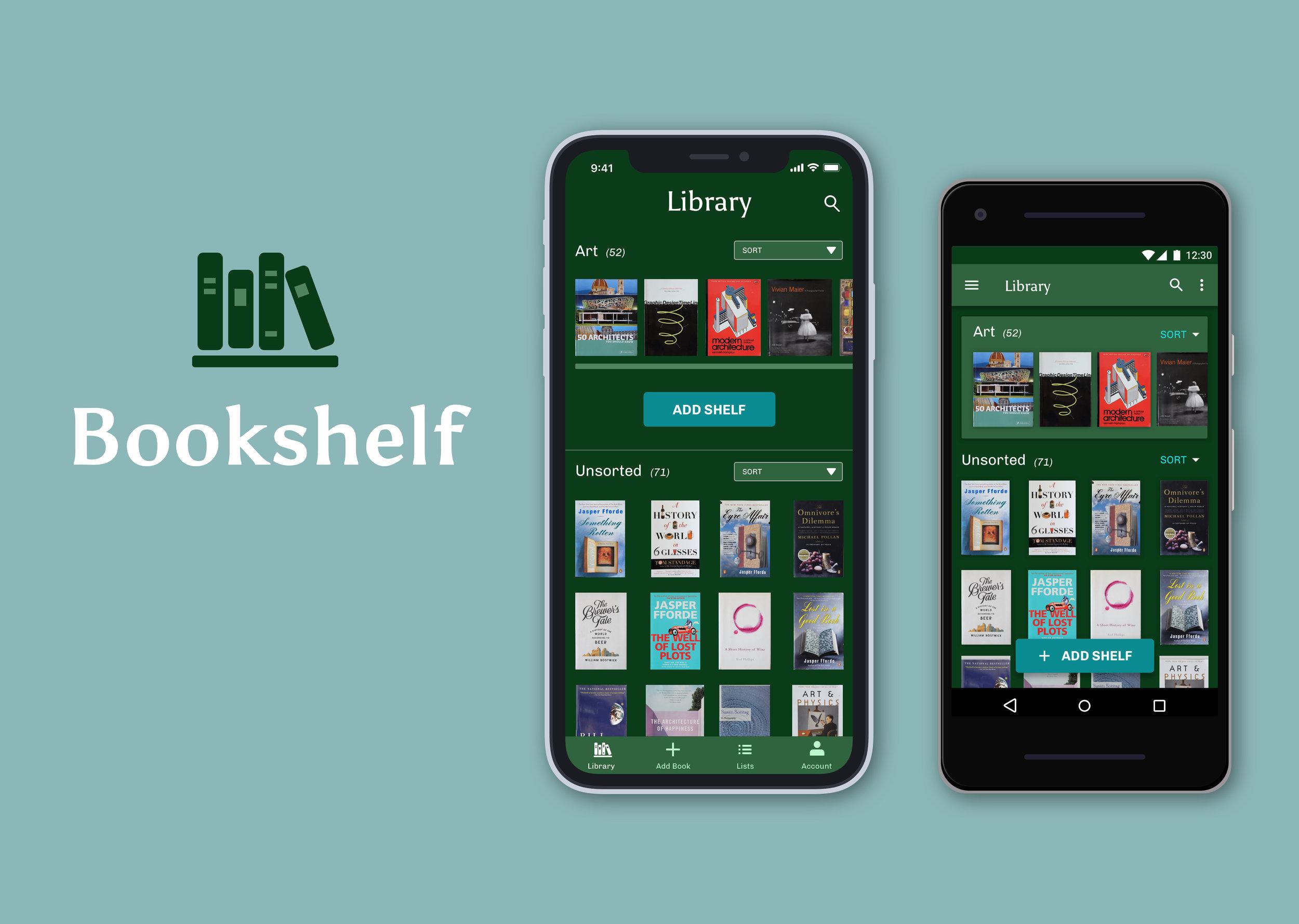 Next Project: Bookshelf  - Native App (iOS, Android)