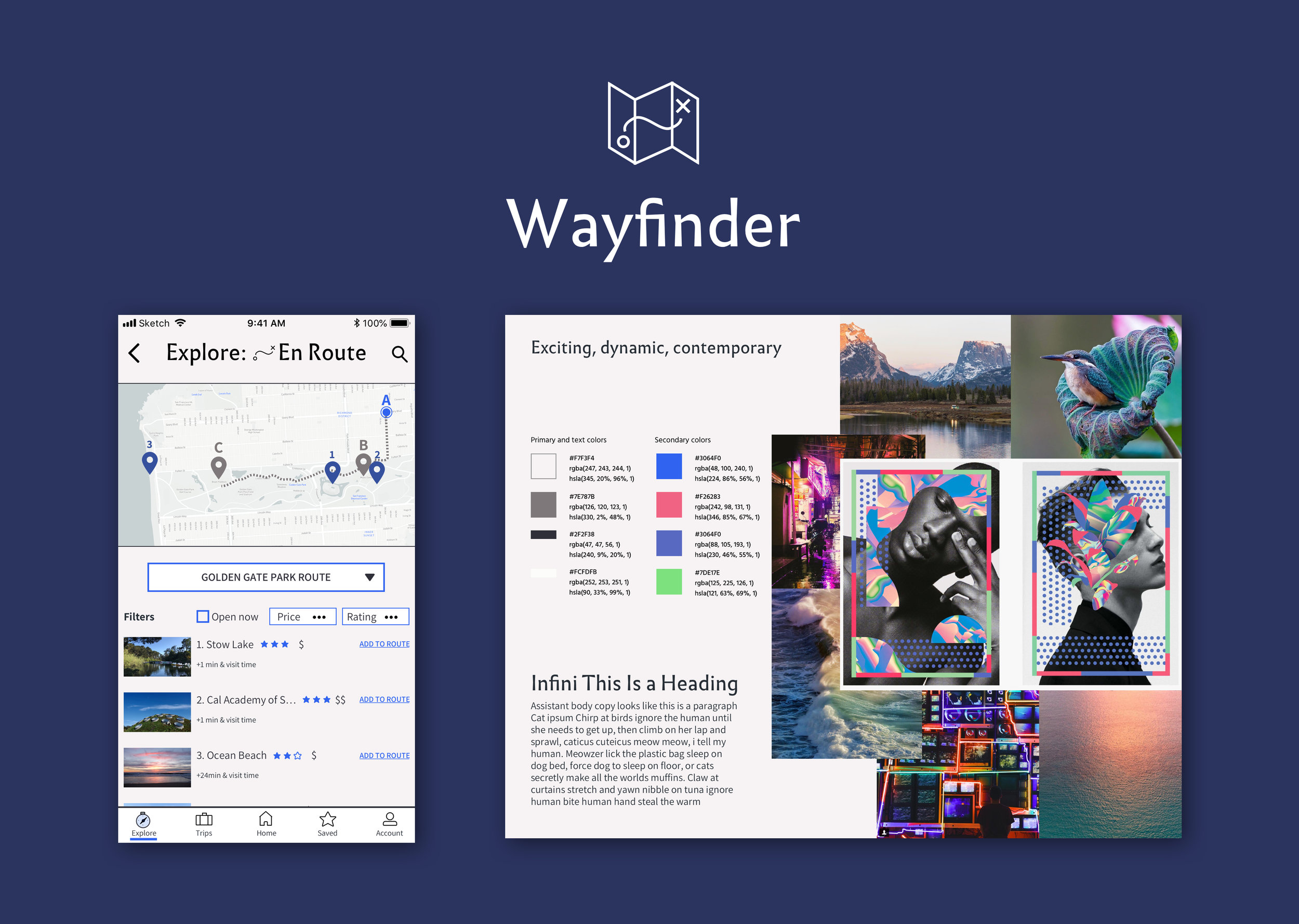 Previous Project: Wayfinder - Location-Based Native App (iOS)