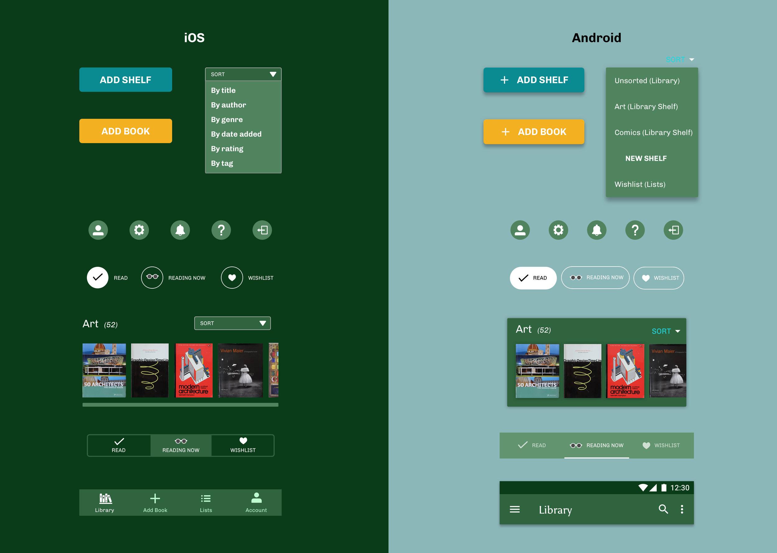Bookshelf app (iOS, Android) — Veronica Lee Designer in San