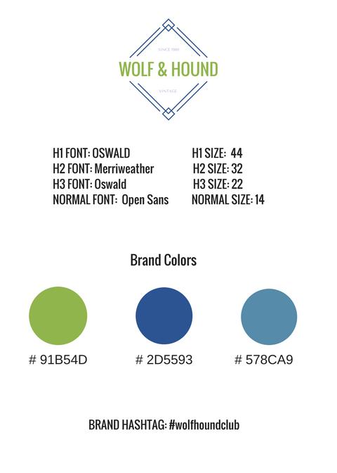 Wolf Hound Brand Style Guide