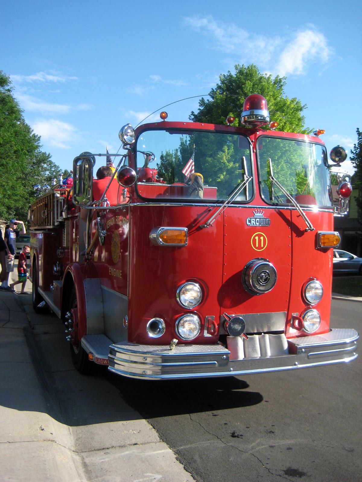 Antique fire truck rides