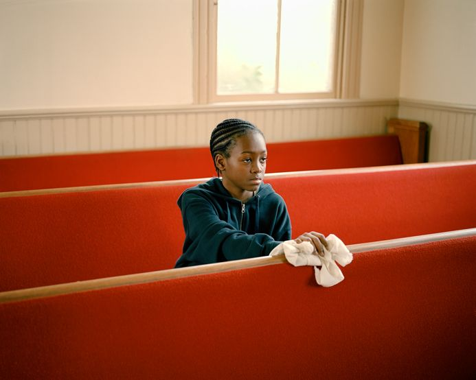 Susan Worsham,  Jamel Cleaning His Church , 2012, archival pigment print