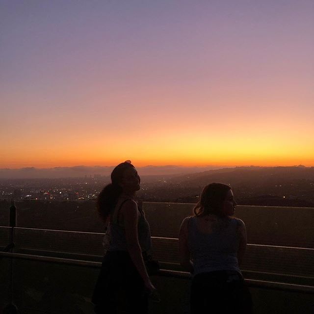 Had to take this pic of Gemma and Laura silhouetted bc their raw beauty would actually kill u or like turn u to stone or something