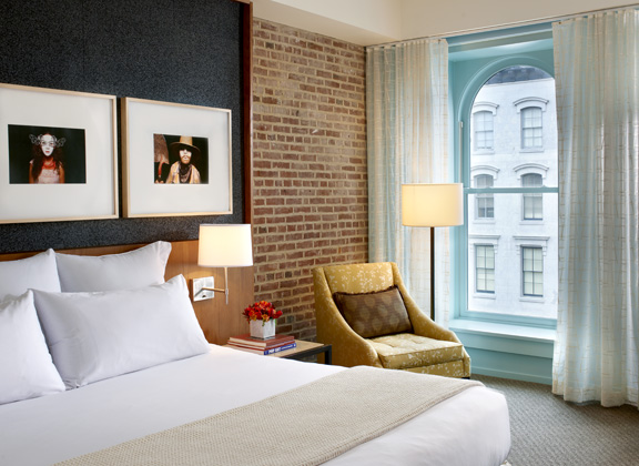 The independent boutique hotel group 21c has 90 rooms integrated into a museum and restaurant at its Louisville, Kentucky, property. Credit: 21c Museum Hotels