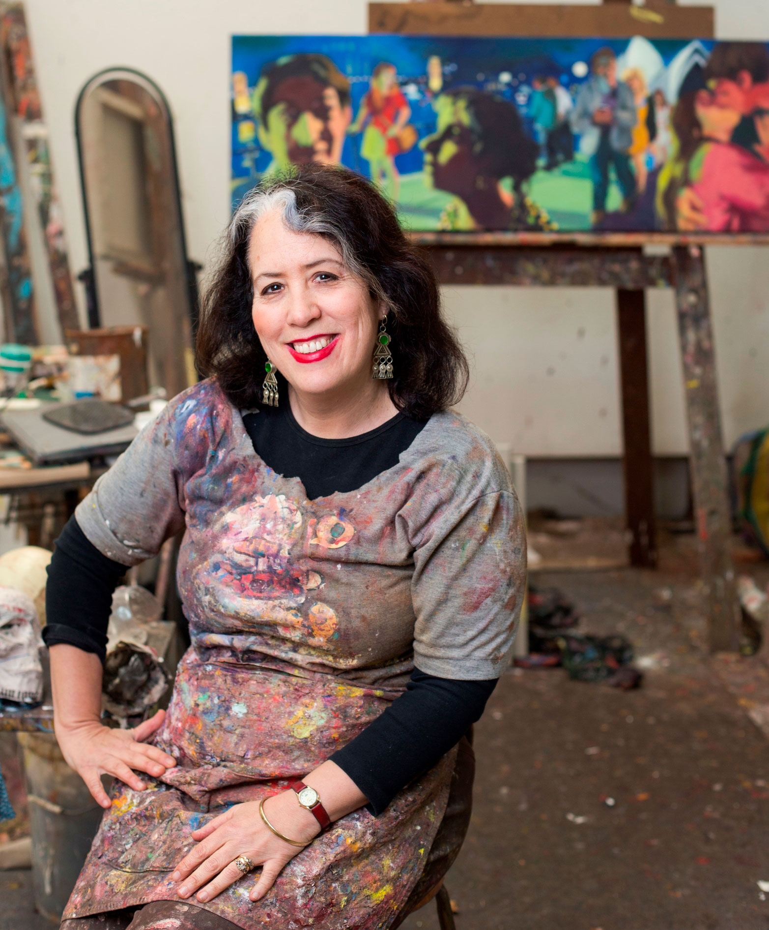 2017 Judge - Wendy Sharpe - Wendy Sharpe is one of Australia's most awarded artists. She lives and works in Sydney and Paris. Major awards include winning; The Sulman Prize, 2 travelling Scholarships, The Portia Geach Memorial Award (twice) and The Archibald Prize. Major commissions include; an Olympic pool size mural for Cook and Philip Park Aquatic Centre Sydney,a commission by the Australian War Memorial and an Australian Official Artist to East Timor 1999 (the 1st woman since WW2). Wendy has also had commissions to draw the Australian ballet. She has been awarded many international artist residencies in Paris (twice), Egypt, Mexico, China and two Antarctica residencies. Wendy has been a Finalist in the Sulman Prize - Art Gallery of New South Wales, 12 times and a Finalist in the Archibald Prize - Art Gallery of New South Wales, 6 times. She has held over 46 solo exhibitions around Australia and internationally.www.wendysharpe.com