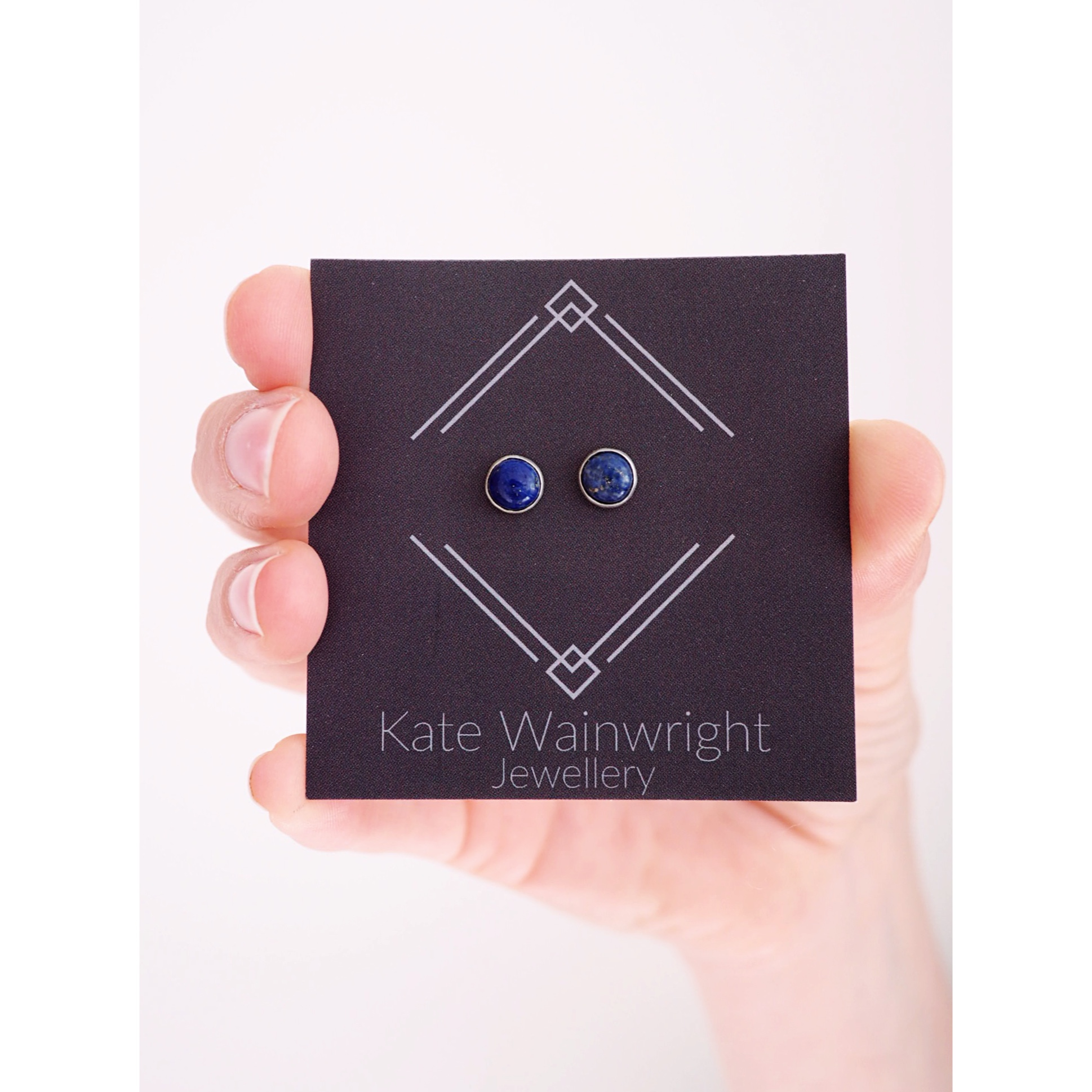 Kate Wainwright Jewellery Silver Deep Blue Sea Silver Studs