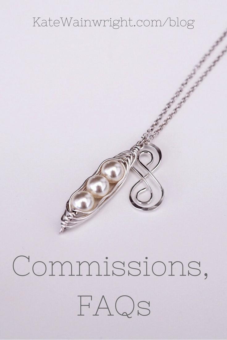 Silver and Pearl Peapod Infinity Necklace  Kate Wainwright Jewellery Blog   KateWainwright.com/blog