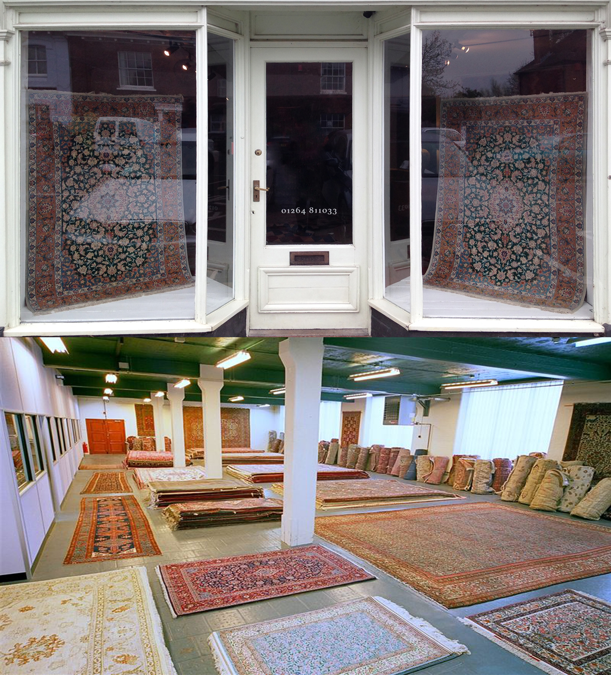 Visit our Hampshire stores or London warehouse for expert advice and guidance on our large selection of hand-knotted Persian rugs, carpets, runners & kilims. We offer a range of services including home viewings, rug repair and cleaning, rug valuations, bespoke rug weaving and rug hire.