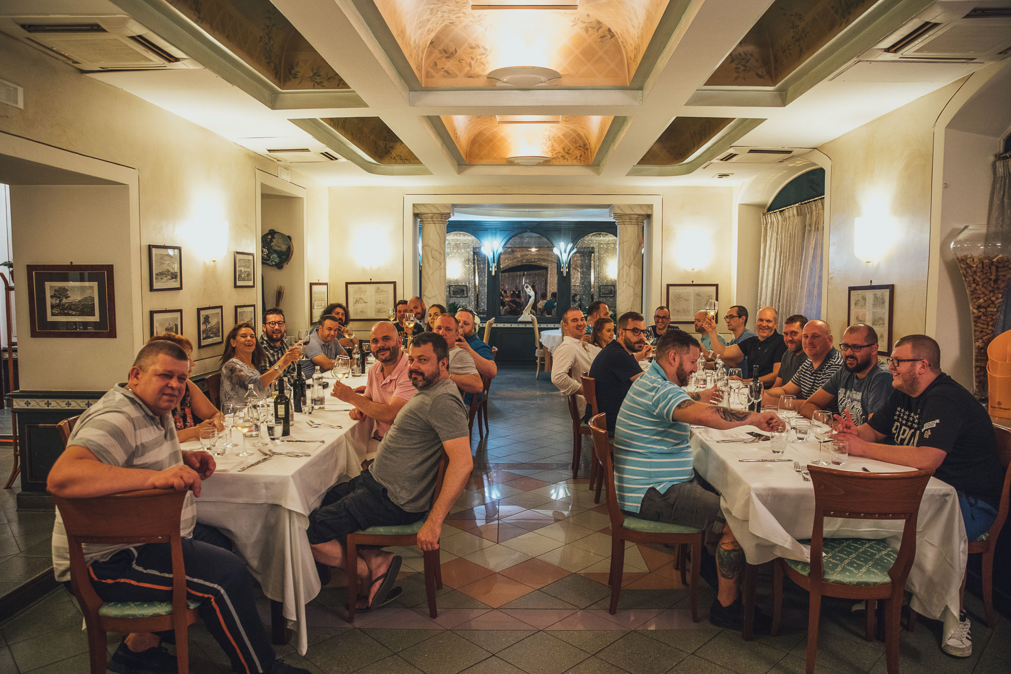 Oakman Inns Head Chefs enjoying dinner at Mimì all Ferrovia, Naples