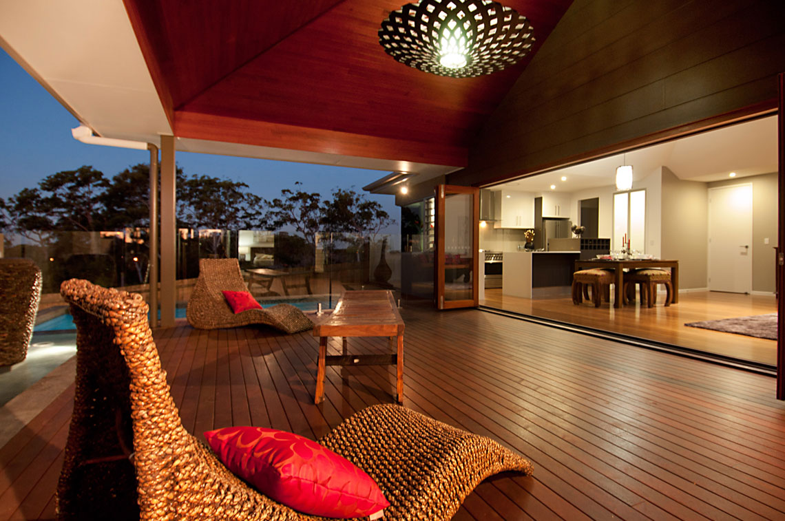 JARRAH - SATIN FINISH - timber ceiling, timber lining board, hardwood ceiling, glosswood, bunnings, eco lining, alfresco, outdoor dining,