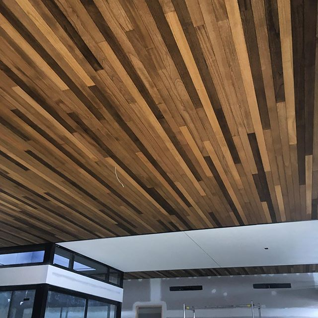 Our Paulownia VJ 90mm penetrating oil matte finish 🙌🏽 Build in progress by BJ Millar Constructions Architect: @justin_humphrey_architect