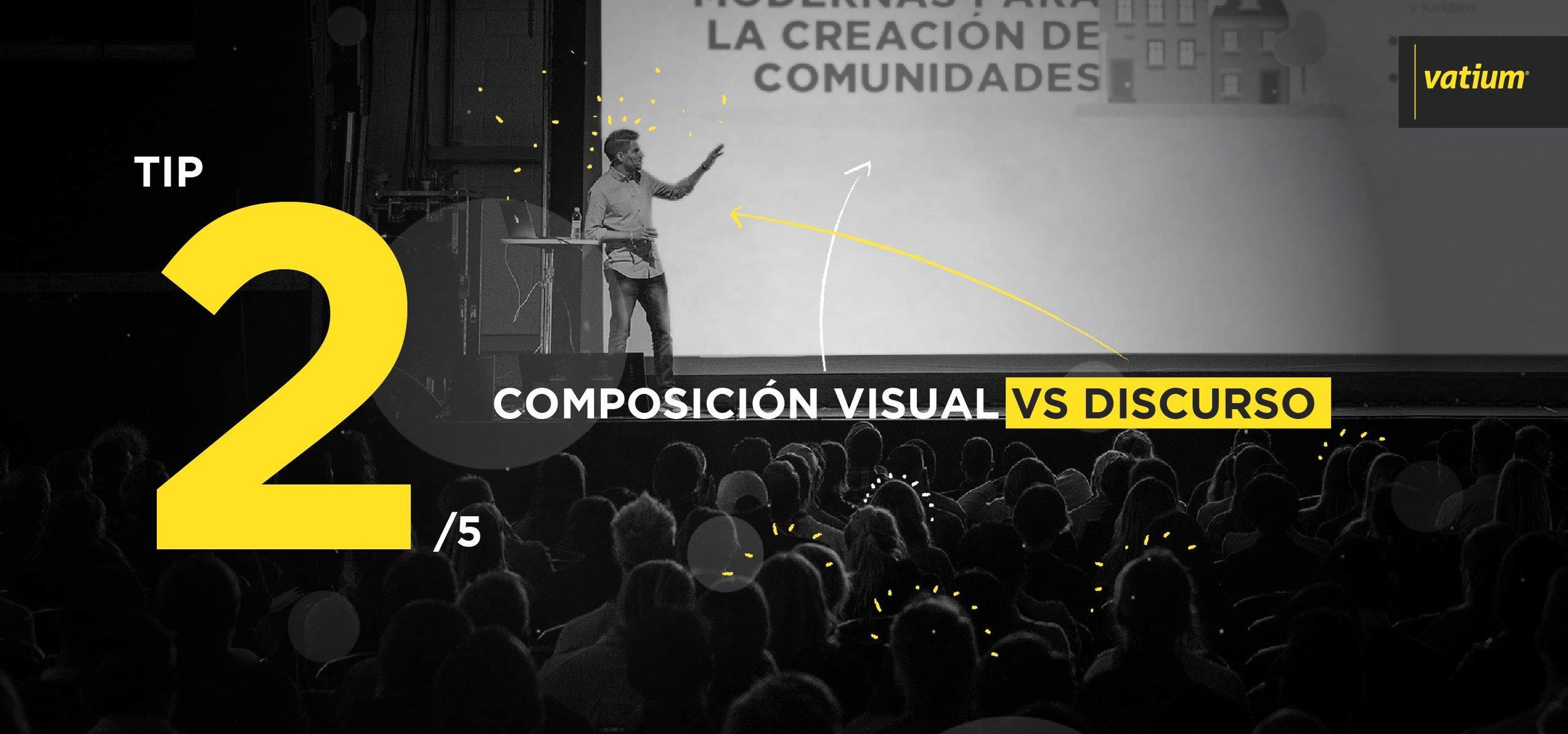 presentaciones comerciales - composición visual vs discurso