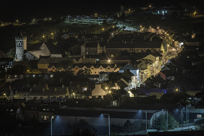 Looking down at Main Street