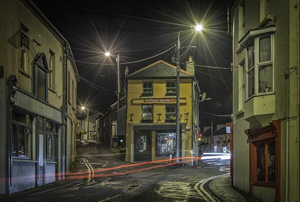 The junction of Barrack Road (L) & Glengarriff Road (R)