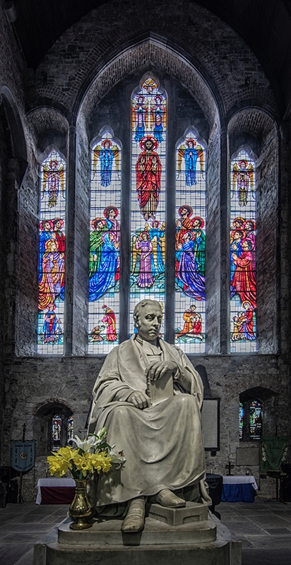 The statue of Bishop John Jebb by Edward Hodges Bail, in the Jebb Chapel or North Transept