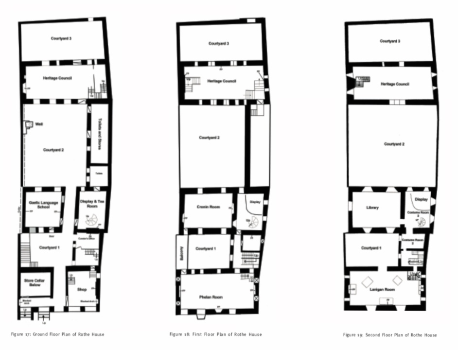 Floor Plans - taken from Rothe House Conservation Plan
