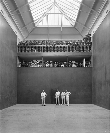 The Rackets court at Haileybury College back in the day