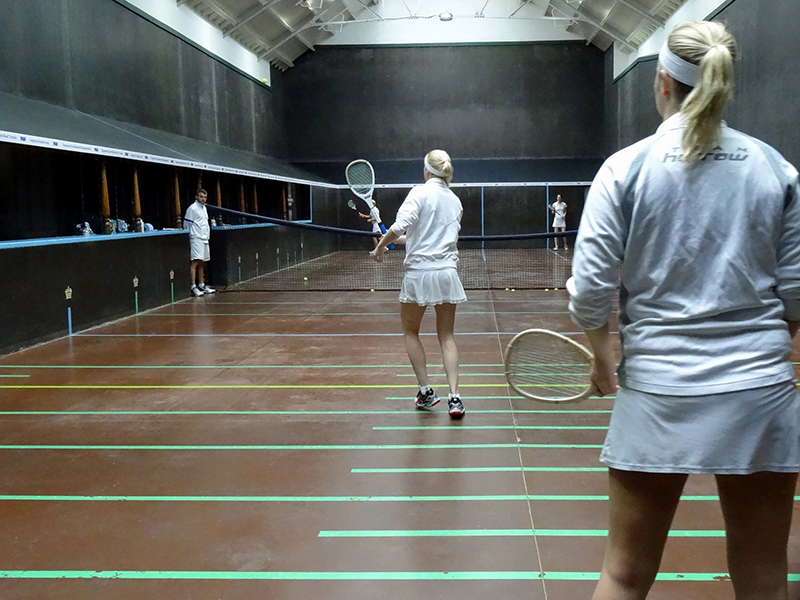 Claire Fahey  and Sarah Vigrass in action at Seacourt