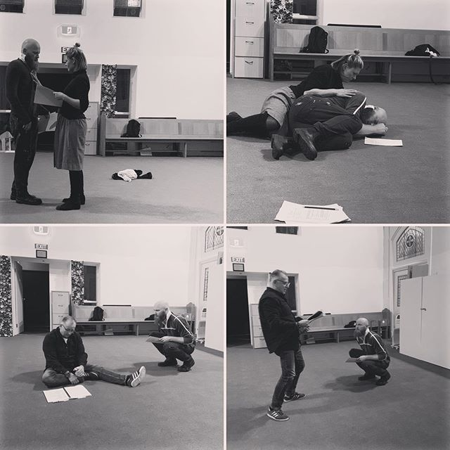 Rehearsals continue for #Toby by Abe Pogos with actors Alicia Beckhurst, Tom Dent and Greg Pandelidis. With scripts in hand, the actors will present a moved reading of this dark, odd and lovely play. Tickets $10 and available here: https://lamama.com.au/2019-summer-autumn-program/Toby . . . #newworks #reactiontheatre #lamama #scriptinhand #playreading #playwriting #theatre #medieval #sheriff #turncoat