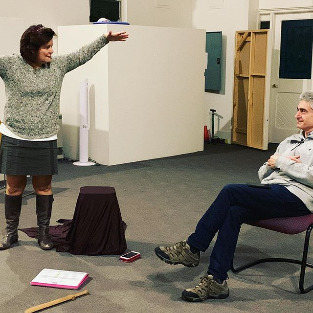 God only knows what I am talking about with the playwright @abepogos here. Anyway... there's only 9 tickets left for our reading of #toby @lamama theatre! This Saturday at the courthouse at 2 pm.