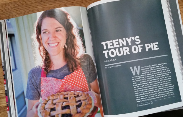 Look at that full page pie lady pic taken by the stunningly talented  Katie Parra